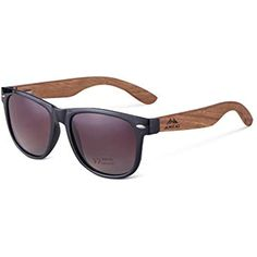 6fe6a51a60 AMEXI Gafas de Sol Polarizadas Hombre y Mujere UV400 Protection Gafas  Ligeras con Patillas de Madera
