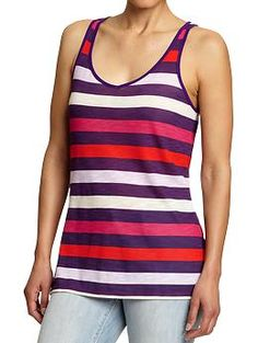 Women's Striped Slub-Knit Tanks | Old Navy