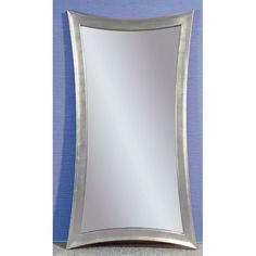 Contemporary Concave Silver Leaf Leaner Mirror - x Modern Floor Mirrors, Floor Standing Mirror, Full Length Floor Mirror, Leaning Mirror, Wall Mirror, Sunburst Mirror, Nebraska Furniture Mart, 3 D, Flooring