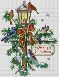 Cross Stitch Christmas Ornaments, Xmas Cross Stitch, Beaded Cross Stitch, Cross Stitch Borders, Cross Stitch Alphabet, Christmas Cross, Cross Stitch Charts, Cross Stitch Designs, Cross Stitching