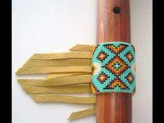 Lame Bear Beadwork Flute or Pipe Wraps