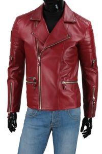Ramoneska Skórzana Męska DORJAN CM ATN463 Red Leather, Leather Jacket, Jackets, Fashion, Studded Leather Jacket, Down Jackets, Moda, Leather Jackets, Fashion Styles