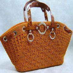 Crochet Bag PATTERN, crochet casual bag pattern, detailed instructions in… Bag Crochet, Crochet Handbags, Crochet Purses, Free Crochet, Crochet Bag Tutorials, Crochet Patterns, Tutorial Crochet, Bag Patterns, Popular Crochet