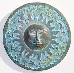 Concrete Sun Plaque Temporarily out of stock by HarlandDesigns