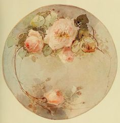 Turn of the Century China Painting Designs- Roses, AULICH?