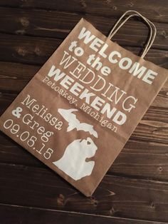 Kraft Paper Wedding Welcome Bags  by MittenMadeDesigns on Etsy