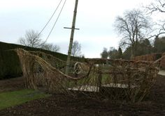 The best living willow sculptures, like the one John Malkovich designed for his garden in France. Kids Outdoor Play, Outdoor Play Areas, Outdoor Learning, Outdoor Spaces, Fairy Houses, Play Houses, Backyard Playground, Playground Ideas, Playground Design