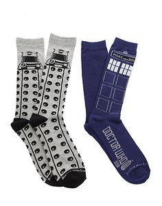 TARDIS (and Dalek) Socks You Don't Have to DIY | 27 Rad Pairs Of Socks To Keep Your Feet Cozy