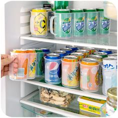 Buy kitchen organizer Refrigerator Storage Box Kitchen Accessories Beverage Can Space-saving Cans Finishing Four Case Organizer at Wish - Shopping Made Fun Refrigerator Organization, Spice Organization, Kitchen Cabinet Organization, Home Office Organization, Kitchen Storage, Kitchen Cabinets, Organized Fridge, Kitchen Drawers, Organizing Ideas