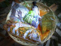 A taste of our herbs:Oregano,Lavender,Saint john's wort.
