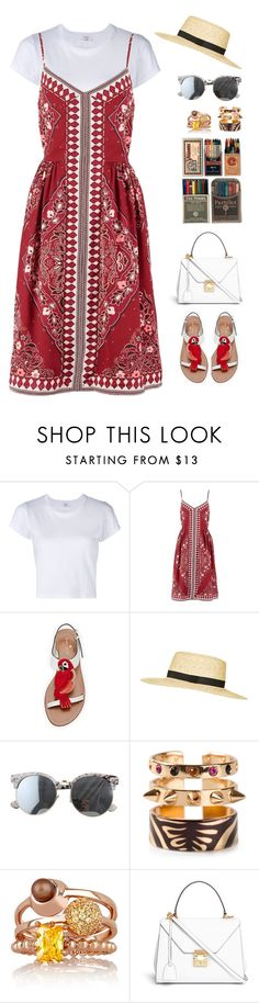 """""""SUMMER DAYZ // itsybitsy62"""" by itsybitsy62 ❤ liked on Polyvore featuring RE/DONE, Banana Republic, Kate Spade, Topshop, Maria Francesca Pepe, Eddie Borgo and Mark Cross"""