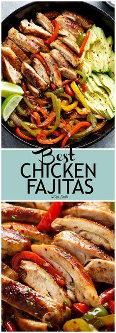 Best Chicken Fajitas - Cafe Delites