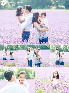 Love the colors of their outfits with this lavender field