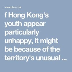 situation. It has one of the worst wealth gaps. Young and old have concerns about Hong Kong's future    And Hong Kongers enjoy free speech and a free press, but don't have the right to democratic elections - meaning they can readily discuss what makes them unhappy, but have limited political ...