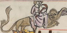 Detail from The Luttrell Psalter, British Library Add MS 42130 (medieval manuscript,1325-1340), f308v