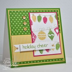 Holiday Cheer by atsamom, via Flickr.  Stamps by Sweet 'n Sassy Stamps.