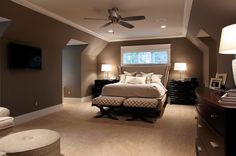 website has thousands of design ideas for every room in your home.Like pintrest for your house! Master Bedroom Design, Home Bedroom, Bedroom Decor, Bedroom Ideas, Master Bedrooms, Awesome Bedrooms, Beautiful Bedrooms, Murs Beiges, Luxury Interior Design