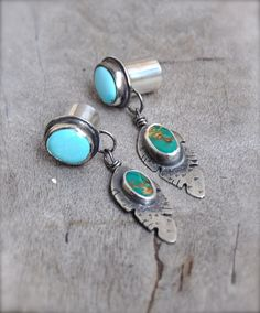 00 gauges | 00 Gauge Turquoise Feather Silver Plugs with Manassa and Sleeping ...