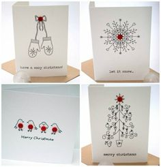 18 wonderful Christmas cards you can make in just 30 minutes – Christmas DIY Holiday Cards Create Christmas Cards, Homemade Christmas Cards, Christmas Wrapping, Xmas Cards, Homemade Cards, Holiday Cards, Cosy Christmas, Handmade Christmas, Christmas Crafts