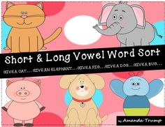FREEBIE--This packet is a hands-on FUN approach to learning and practicing short/long vowel sounds! Students will be engaged in a FUN way as they learn the sound differences between all five of the short/long vowel sounds. If the students wish, they can Kindergarten Reading Activities, Word Work Activities, Reading Resources, Teacher Resources, Literacy, Phonics Activities, Teaching Reading, Teaching Phonics, Teaching Tools