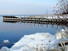 Ice on the Municipal Dock