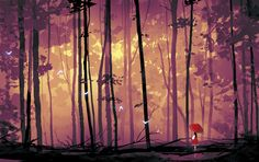 SeaofTrees by el-zheng. on - My list of the most beautiful artworks Japon Illustration, Landscape Illustration, Landscape Art, Digital Illustration, Environment Concept Art, Environment Design, Animation Background, Art Background, Bg Design