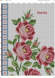 Crochet Quilt Pattern, Quilt Patterns, Best Roses, Cross Stitch Rose, Cross Stitch Patterns, Quilts, Embroidery, Sewing, Albanian Food