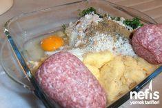 Kıbrıs Köftesi 1 Beef Dishes, Mashed Potatoes, Yogurt, Eggs, Meat, Breakfast, Ethnic Recipes, Food, Losing Weight