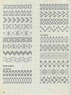 "Photo from album ""Alice Starmore Book of Fair Isle Knitting"" on Yandex. Motif Fair Isle, Fair Isle Chart, Fair Isle Pattern, Fair Isle Knitting Patterns, Knitting Charts, Knitting Stitches, Loom Knitting, Free Knitting, Cross Stitch Borders"