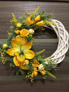 Ikebana Flower Arrangement, Floral Arrangements, Fern Planters, Country Wreaths, Deco Wreaths, Flowers Perennials, Fall Flowers, Summer Wreath, Wreaths For Front Door
