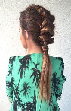 10 Easy Stylish Braided Hairstyles for Long Hair – Inspired Creative Braided Hairstyle Idea. 10 Easy Stylish Braided Hairstyles for Long Hair – Inspired Creative Braided Hairstyle Ideas # Try On Hairstyles, Box Braids Hairstyles, Elegant Hairstyles, Hairstyle Ideas, Summer Hairstyles, Hairstyles Pictures, Bad Hair, Hair Day, Curly Hair Styles