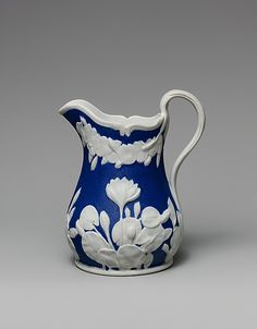 Pitcher  United States Pottery Company (1852–58).  Info from Metmuseum.org