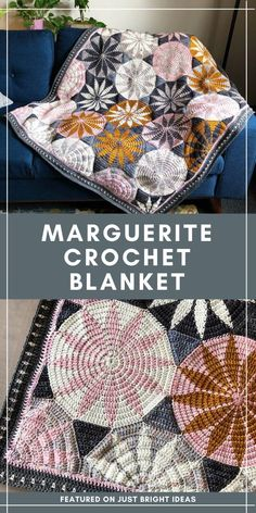 This Beautiful Geometric Crochet Bl. - This Beautiful Geometric Crochet Blanket is a Joy to Make Crochet Afghans, Crochet Blanket Patterns, Knit Or Crochet, Crochet Crafts, Easy Crochet, Crochet Stitches, Crochet Baby, Free Crochet, Crochet Blankets
