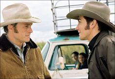 "Heath Ledger and Jake Gyllenhaal in Ang Lee's ""Brokeback Mountain"" (2005)."