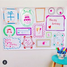 Erasable Wall Frames Kids Decal. www.plaeful.co