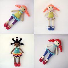 Muñecas PDF Linda Candice Marina, Addy, Adeline, patrón de ganchillo - juguete muñeca de Crochet, DIY tutorial