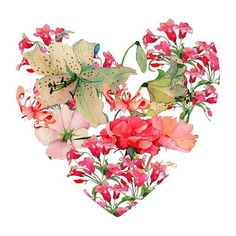 Flowered heart illustration