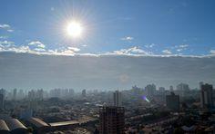 'Nuvem tsunami' avançou pelo céu de Piracicaba (Foto: Carol Giantomaso/G1)