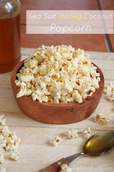 Sea Salt Honey Coconut Popcorn I 24 Carrot Life