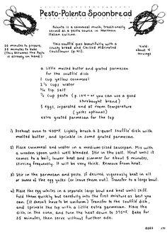 Mollie Katzen: Pesto-Polenta Spoonbread #molliekatzen #vegetarian