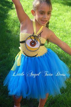 Yellow / Blue Minion Despicable Me 2 Tutu Dress - Fancy Dress Minion Costume by LittleAngelTutuDress