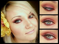 Burgundy makeup by Monica