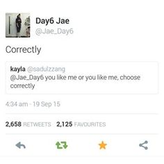 DAY6 Jae tweets - normally I hate Twitter but Jae has a gift... He's hysterical...