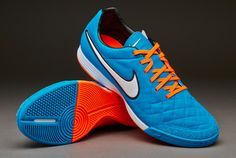 best sneakers 3a940 cd0ea Botas de futbol sala Nike- Zapatillas de Futsal Nike Tiempo Legacy  -Turquesa-Blanco