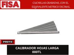 CALIBRADOR HOJAS LARGAS 000TL. Cuchillas grabadas con el equivalente metrico decimal-  FERRETERIA INDUSTRIAL -FISA S.A.S Carrera 25 # 17 - 64 Teléfono: 201 05 55 www.fisa.com.co/ Twitter:@FISA_Colombia Facebook: Ferreteria Industrial FISA Colombia