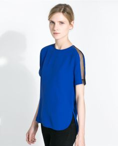 Image 2 of COMBINED SLEEVE TOP from Zara