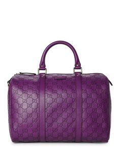 GUCCI Purple Guccissima Boston Bag