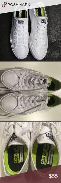 reputable site 42d18 dcd89 Converse All White Lunarlon size 7