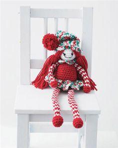 Christmas  Elf - Free Amigurumi Pattern  here:  http://www.michaels.com/Christmas-in-July-Crochet-Elf/29908,default,pd.html?cgid=projects-yarnandneedlecrafts-toysandamigurumi