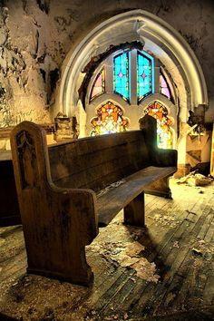 Look at those beautiful windows! Abandoned Detroit church